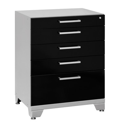 NewAge Products Performance Plus Series Five Drawer Tool Cabinet Black