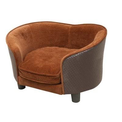 Plush Pet Sofa Bed - Brown