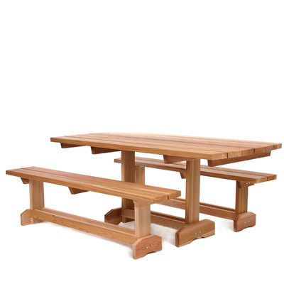 CEDAR 3pc. Market Picnic Table Patio Set (8 person)