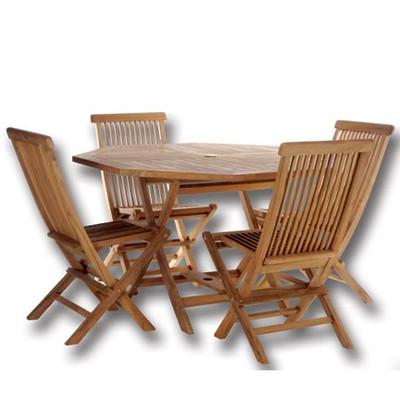 TEAK Octagon Table Set
