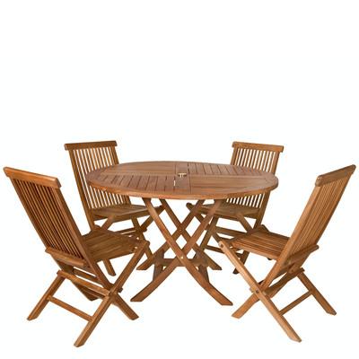 TEAK Round Table Set