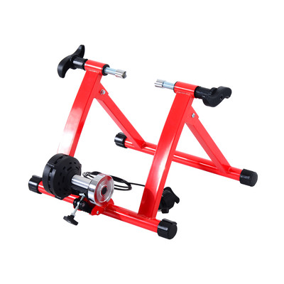 Magnetic Bicycle Trainer with Resistance Wire - Red