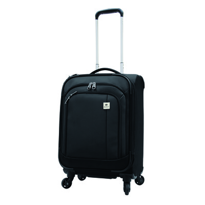 Samboro Feather Lite Luggage 19 inches Exp. Carry-on Spinner Trolley - Black Color