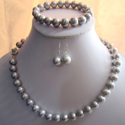 11-12mm Grey Color Fresh Water Pearls set