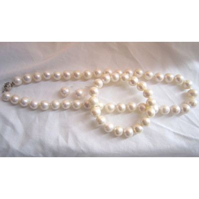 7-8mm Grey Color Fresh Water Pearl Necklace