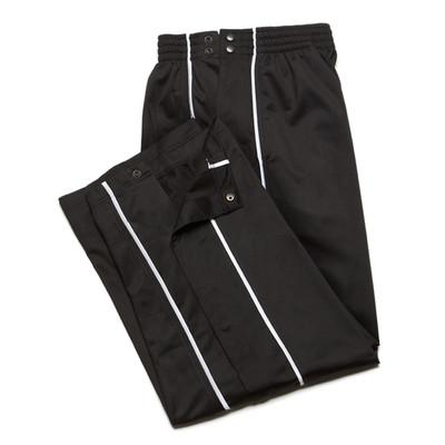 JJB Men's Athletic Tear Away Warm-Up Pants - Black