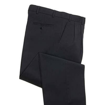 Comfort Stretch Wool Blend Men's Dress Pant, 2 Pleats, Navy