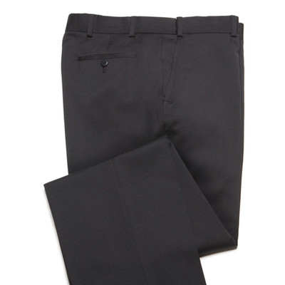 Comfort Wool Blend, Expandable Waist Pants - Flat Front - Black