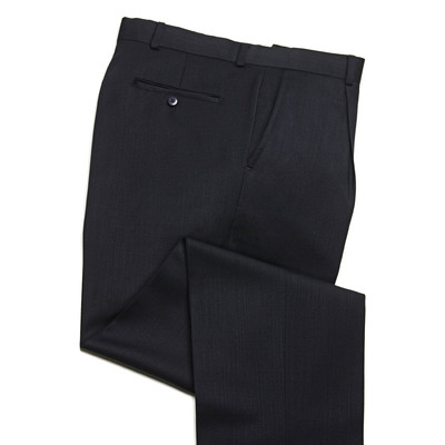 Knightsbridge Super 100's Wool Comfort Pants - 1 Pleat - Navy