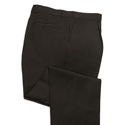 Knightsbridge Super 100's Wool Comfort Pants - 1 Pleat - Brown
