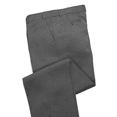 Haband Wrinkle Resistant Men's Dress Pant - Flat Front - Gray