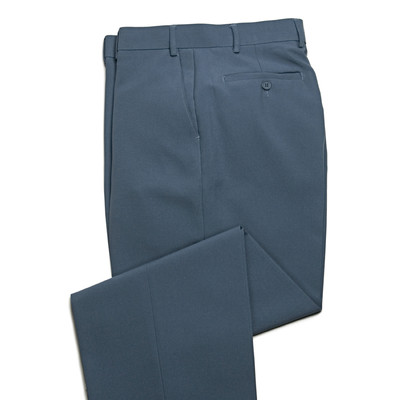 Haband Wrinkle Resistant Men's Dress Pant - Flat Front - Steel Blue