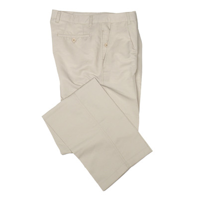 Think Golf Micro Fiber Men's Casual Dress Pants, Single Pleat- Beige