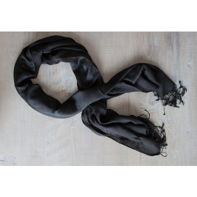 Black Print Scarf