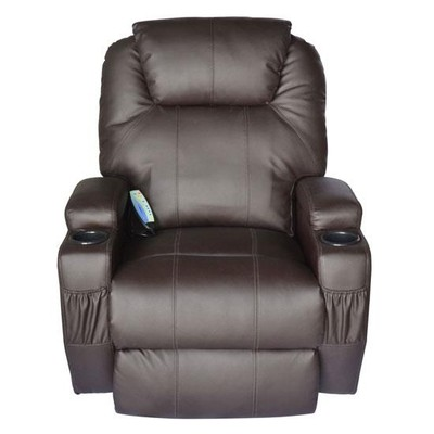 Therapeutic Heated Massage Reclining Chair - Brown