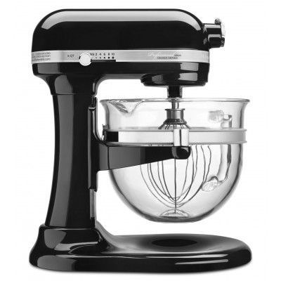Stand Mixer - 6 qt - Glass Bowl - Black