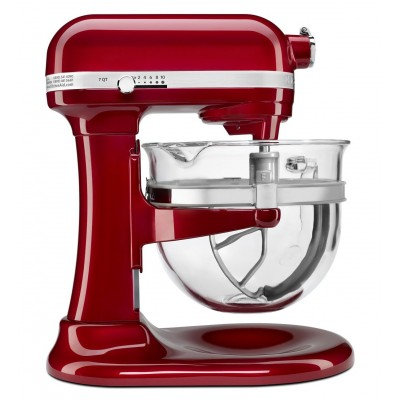 Stand Mixer - 6 qt - Glass Bowl - Red