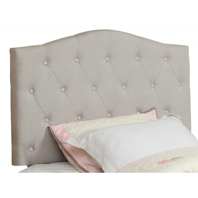 TWIN STUDDED UPHOLSTERED HEADBOARD ONLY-NATURAL LINEN