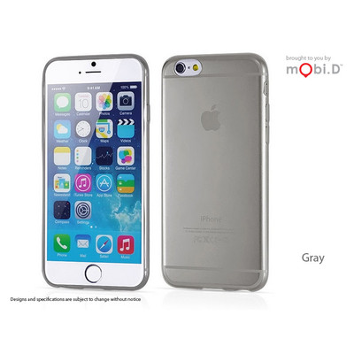 2x MBD iPhone 6 Plus Deluxe Slim Clear Case (Grey) (DSCC6PGY)