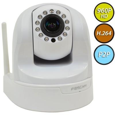 Foscam Plug and Play FI9826P (White) 1.3 Megapixel (1280x960p) 3x Optical Zoom H.264 Pan/Tilt Wireless IP Camera