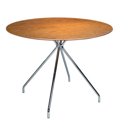 "ARTIKA-T 39.4"" Round Dining Table (Honey Walnut)"