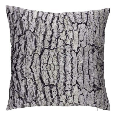 Grey Tree Bark Motif Throw Cushion Pillow