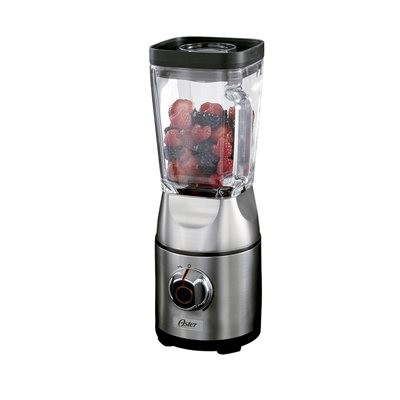 Oster BLSTCB0100-033 Silver Die-Cast Dial Blender with Square Jar -
