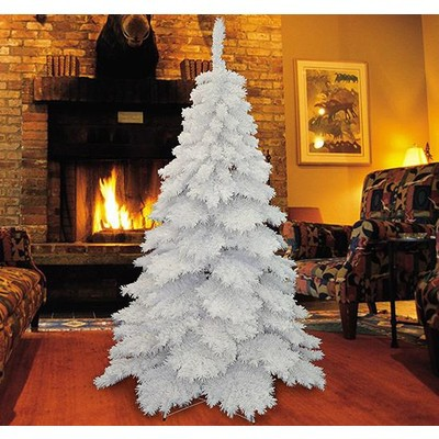 6.9FT Flocked Christmas Tree (white)