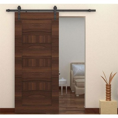 Carbon Steel Barn Door Hardware Pack - Deep Coffee