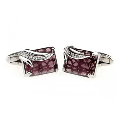 Square Pink and Silvers Cufflinks
