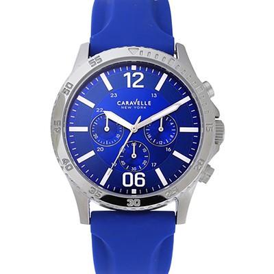 Mens Blue Strap Sports Watch