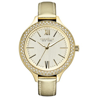 Ladies Yellow Crystal Strap Watch