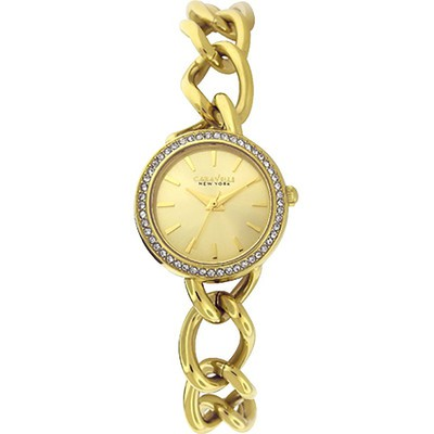 Ladies Yellow Crystal Bracelet Watch