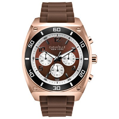 Mens Rose Gold Sports Strap Watch
