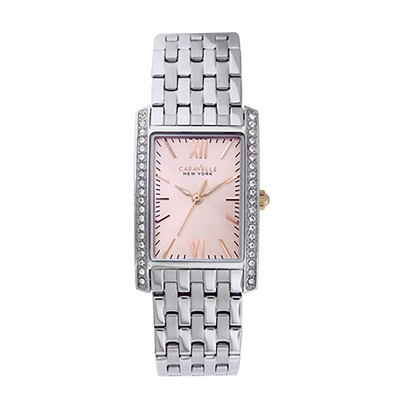Ladies Two-tone Crystal Strap Watch