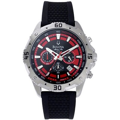 Mens Marine Star Black Strap Watch