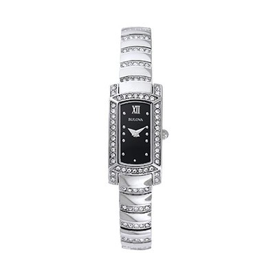 Ladies Silver Crystal Bracelet Watch