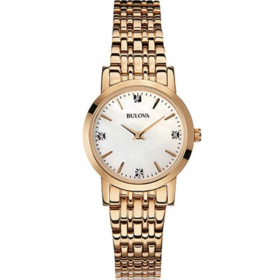 Ladies Rose Gold Diamond Bracelet Watch