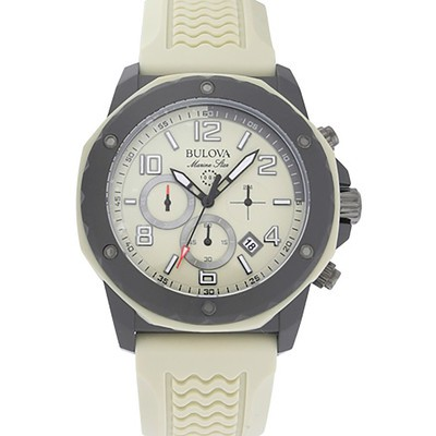 Mens Two-tone Marine Strap Watch