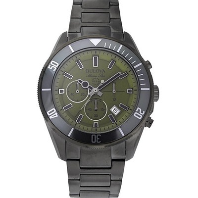 Mens Gray Marine Bracelet Watch