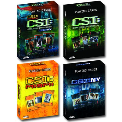 CSI Playing Cards, 4-Pack
