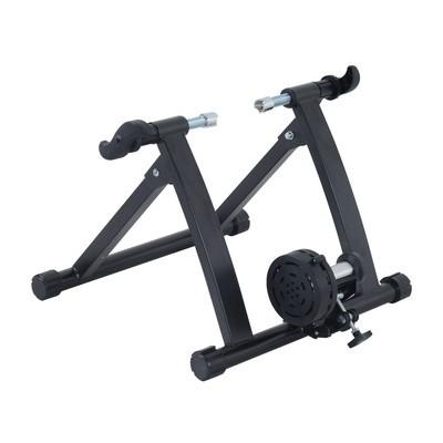 Folding Magnetic Bicycle Bike Trainer - Black