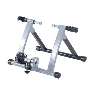 Indoor Kinetic Bike Trainer Exercise Cycling Resistance Stand - Silver