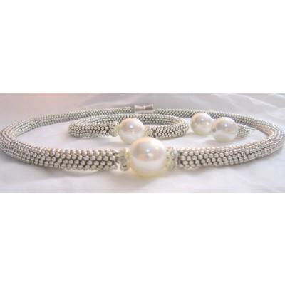 White Pearl Silver Set