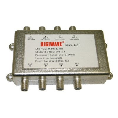 Digiwave 4 IN 4 OUT Satellite Switch (DGS4401)