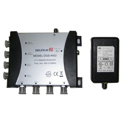Digiwave 4 IN 4 OUT Satellite Switch (DGS4402)