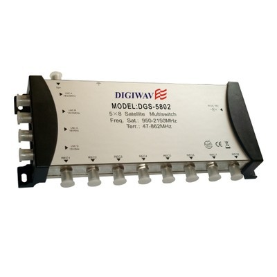Digiwave 5 IN 8 OUT Multiswitch (DGS5802)