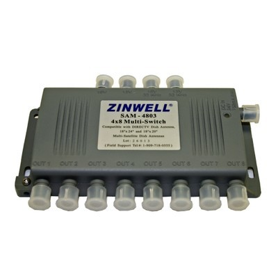 Digiwave 4 IN 8 OUT Satellite Switch (DGSSAM4803)