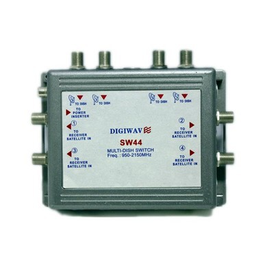 Digiwave 4 IN 4 OUT Satellite Switch (DGSSW44GRAY)