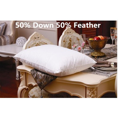 White Down Feather Pillow 1 pair (2 Pieces) Queen size